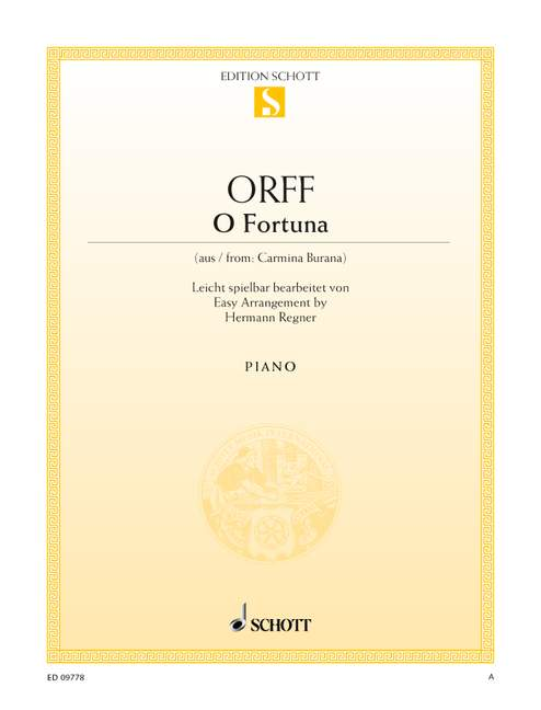 Carl single sheet piano 9790001145138 O Fortuna from Carmina Burana Orff